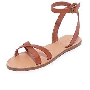 Madewell Boardwalk Crisscross Ankle Strap Sandals